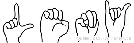 Leny in Fingersprache für Gehörlose