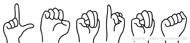 Lenina in Fingersprache für Gehörlose