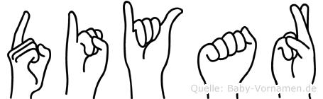 Diyar im Fingeralphabet der Deutschen Gebärdensprache