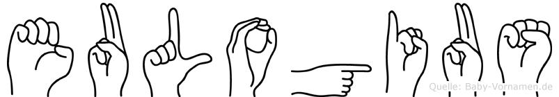 Eulogius im Fingeralphabet der Deutschen Gebärdensprache