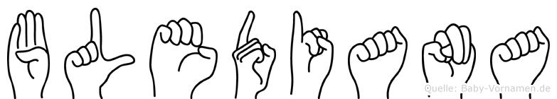 Blediana in Fingersprache für Gehörlose