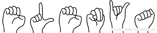 Elenya im Fingeralphabet der Deutschen Gebärdensprache