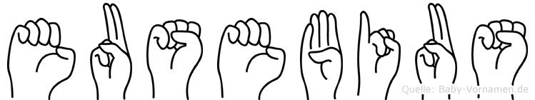 Eusebius in Fingersprache für Gehörlose