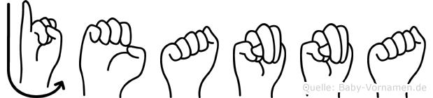 Jeanna in Fingersprache für Gehörlose