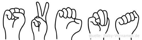 Svena in Fingersprache für Gehörlose