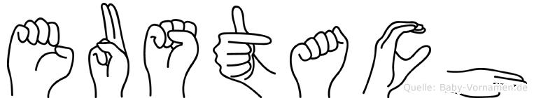 Eustach in Fingersprache für Gehörlose