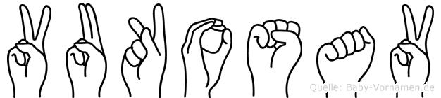 Vukosav im Fingeralphabet der Deutschen Gebärdensprache
