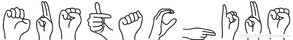 Eustachius in Fingersprache für Gehörlose