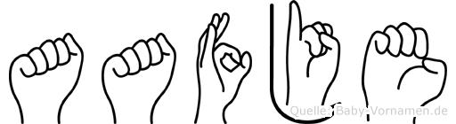 Aafje im Fingeralphabet der Deutschen Gebärdensprache