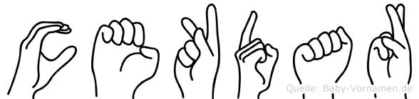 Cekdar im Fingeralphabet der Deutschen Gebärdensprache