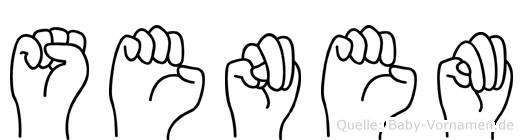 Senem in Fingersprache für Gehörlose