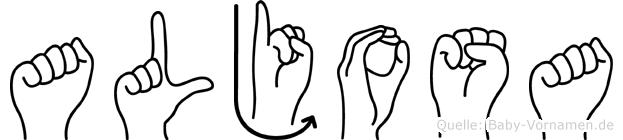 Aljosa in Fingersprache für Gehörlose