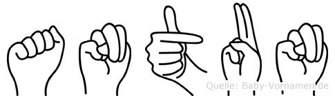 Antun in Fingersprache für Gehörlose