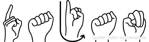 Dajan in Fingersprache für Gehörlose