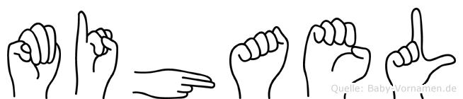 Mihael im Fingeralphabet der Deutschen Gebärdensprache