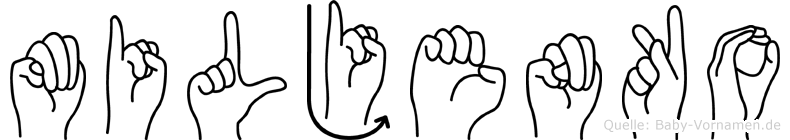 Miljenko im Fingeralphabet der Deutschen Gebärdensprache