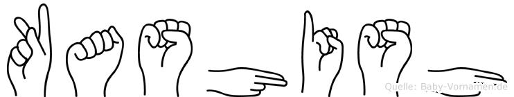 Kashish im Fingeralphabet der Deutschen Gebärdensprache