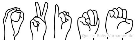 Ovine im Fingeralphabet der Deutschen Gebärdensprache