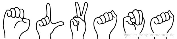 Elvana in Fingersprache für Gehörlose
