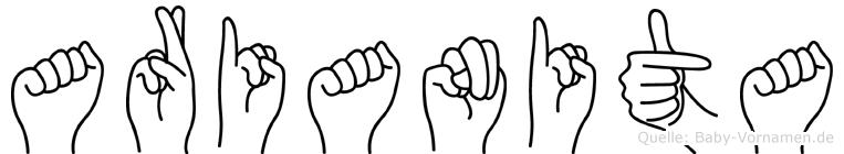 Arianita in Fingersprache für Gehörlose