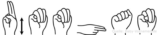 Ümmühan im Fingeralphabet der Deutschen Gebärdensprache