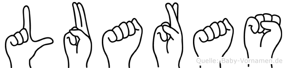 Luaras in Fingersprache für Gehörlose