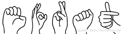 Efrat in Fingersprache für Gehörlose