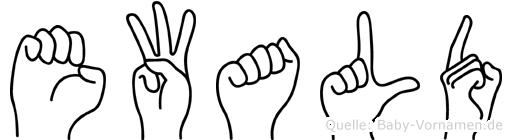 Ewald in Fingersprache für Gehörlose