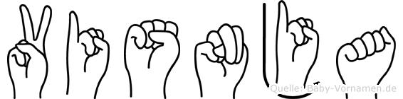 Visnja im Fingeralphabet der Deutschen Gebärdensprache