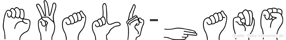 Ewald-Hans im Fingeralphabet der Deutschen Gebärdensprache