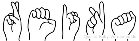 Reika in Fingersprache für Gehörlose