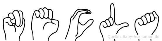 Necla in Fingersprache für Gehörlose