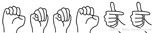 Emmett im Fingeralphabet der Deutschen Gebärdensprache