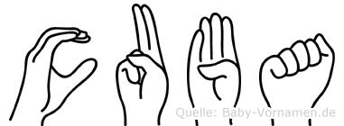 Cuba in Fingersprache für Gehörlose