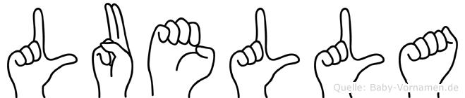 Luella in Fingersprache für Gehörlose