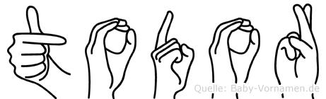 Todor in Fingersprache für Gehörlose