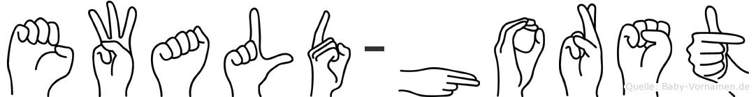 Ewald-Horst im Fingeralphabet der Deutschen Gebärdensprache