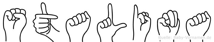 Stalina in Fingersprache für Gehörlose