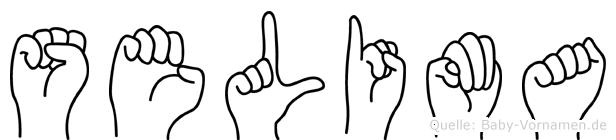 Selima im Fingeralphabet der Deutschen Gebärdensprache