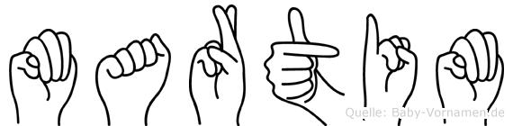 Martim im Fingeralphabet der Deutschen Gebärdensprache