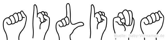 Ailina in Fingersprache für Gehörlose
