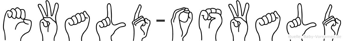 Ewald-Oswald im Fingeralphabet der Deutschen Gebärdensprache