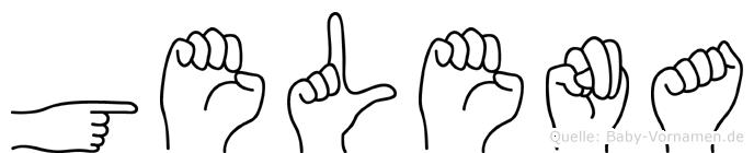 Gelena im Fingeralphabet der Deutschen Gebärdensprache