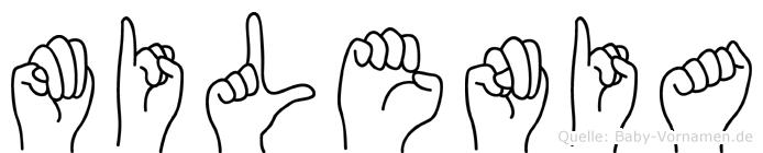 Milenia in Fingersprache für Gehörlose