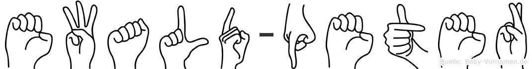 Ewald-Peter im Fingeralphabet der Deutschen Gebärdensprache