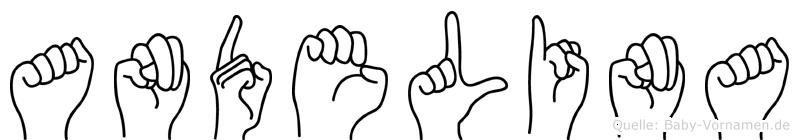 Andelina im Fingeralphabet der Deutschen Gebärdensprache