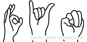 Fyn in Fingersprache für Gehörlose
