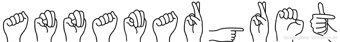 Annamargret im Fingeralphabet der Deutschen Gebärdensprache
