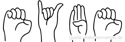Eybe im Fingeralphabet der Deutschen Gebärdensprache