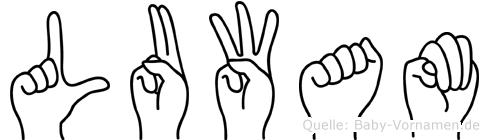 Luwam im Fingeralphabet der Deutschen Gebärdensprache
